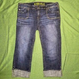 Hydraulic Capri Cropped Jeans Stretch Capris 20W